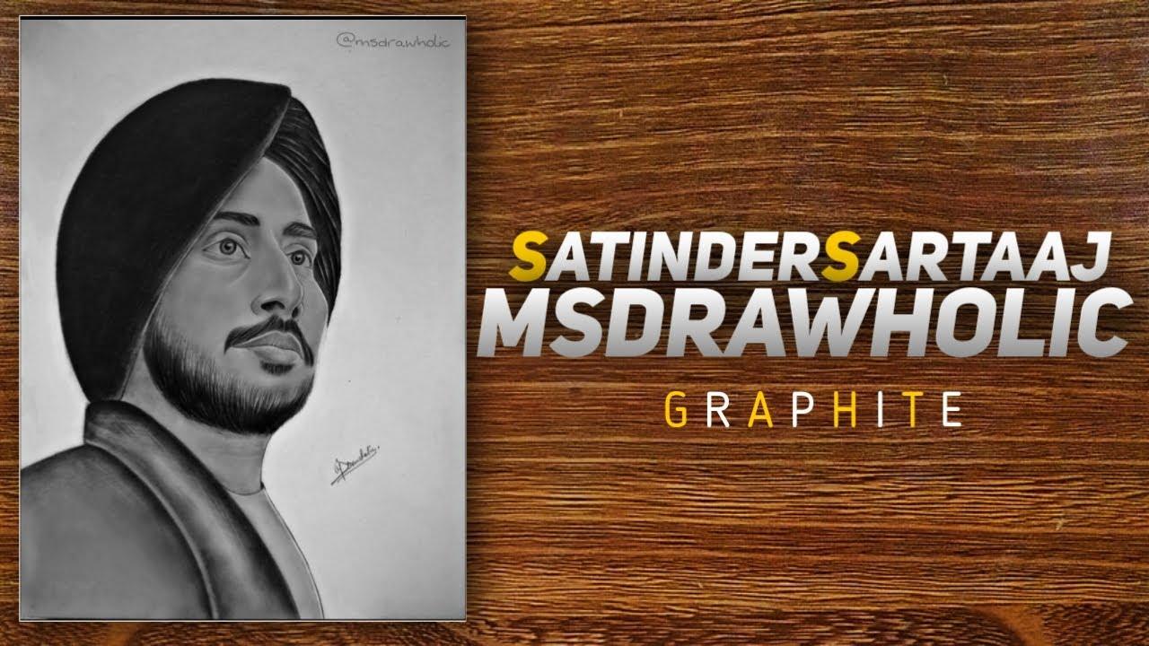 Satinder Sartaaj Portrait   MS Drawholic • How to daw sketch of Satinder Sartaaj •