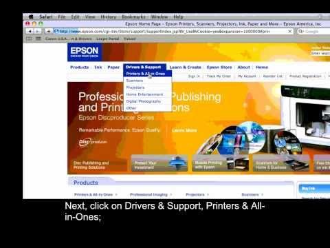 Epson Printers - Update Firmware - Mac