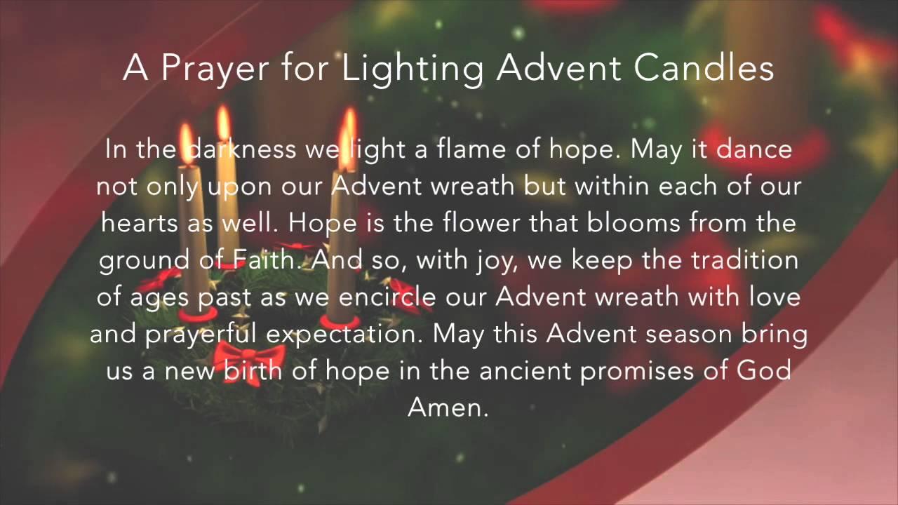 a prayer for lighting advent candles youtube. Black Bedroom Furniture Sets. Home Design Ideas