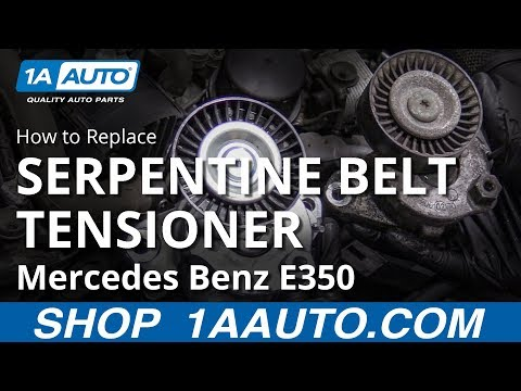 How to Replace Serpentine Belt Tensioner 09-16 Mercedes E350