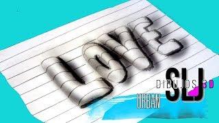 como dibujar letras 3d how to draw love 3d como desenhar love 3d como hacer dibujo 3d facil