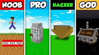 Minecraft NOOB vs. PRO vs. HACKER vs. GOD: FUNNY FAMILY PRANK CHALLENGE in Minecraft! (Animation)