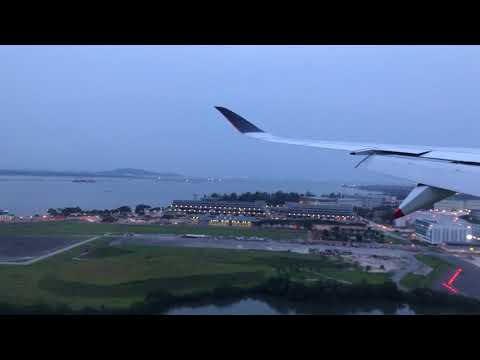 Landing at Changi Airport in Singapore Airlines A350 [SFO to SIN]