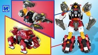 Биклонз Ураган. Трансформер Мега Зверь. Игрушки Скорпион и Бык трансформируются в робота.