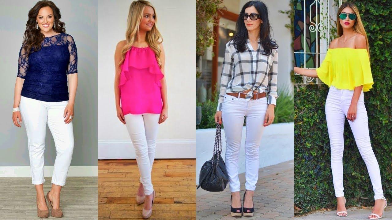 Outfits Con Pantalon Blanco 2018 Tendencias En Moda Youtube