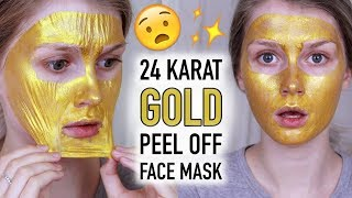 24 KARAT GOLD PEEL OFF MASK?