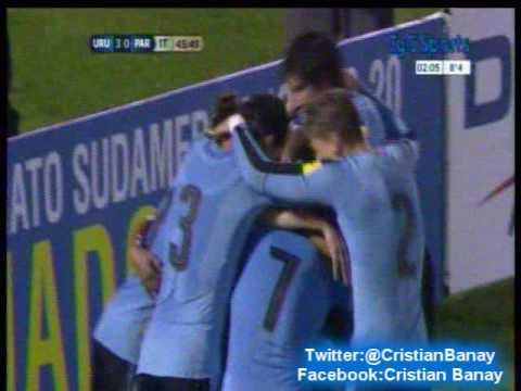 Uruguay 4 Paraguay 0 (13 a 0) Eliminatorias a Rusia 2018