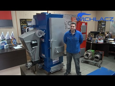 Котел с Автоматической подачей топлива Wichlacz GKR 50-75 кВт. Вихлач с Автоподачей.