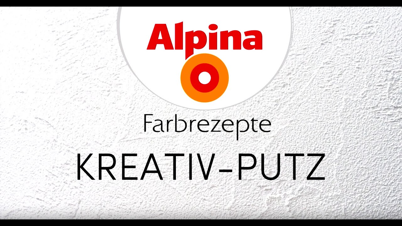 Alpina Kreativ Putz Youtube
