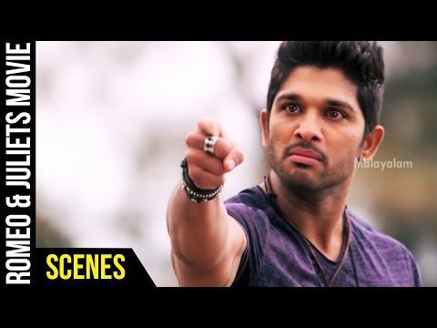Romeo & Juliets Malayalam Movie Scenes | Allu Arjun Tells the Truth to Catherine Tresa | Amala Paul