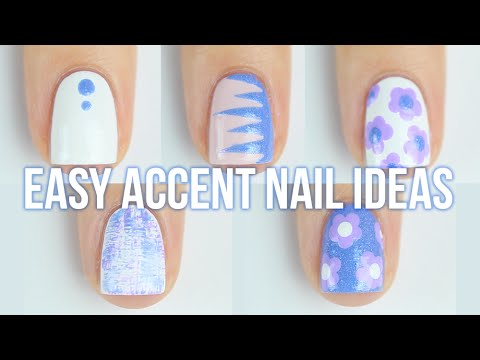 1 Manicure, 5 Accent Nail Art Design Ideas!! || KELLI MARISSA