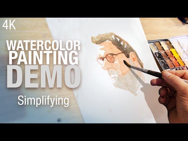 🎨 Simple man portrait in watercolor 4K good