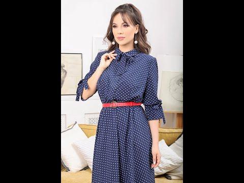 Летнее платье Мода-Юрс модель 2481 krupnyj goroh