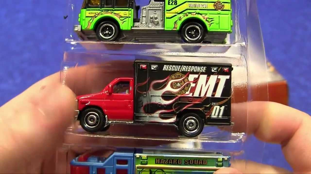 2016 Ford Transit >> Haul Time - Matchbox EMT 5-Pack (Emergency Vehicles) - YouTube
