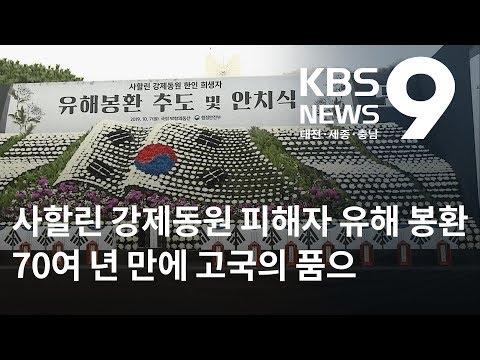 70여 년 만의 귀향... 사할린 강제동원 피해자 유해 봉환 / KBS뉴스(NEWS)