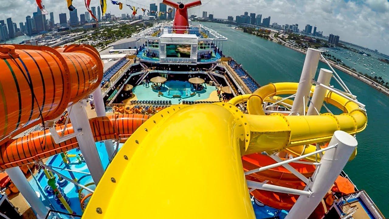 CRUISE SHIP Water Slide HighSpeed Slide On Carnival Vista YouTube - Cruise ship slide