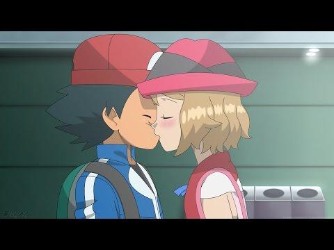 Ash and Serena Kiss Scene Uncensored! [English Dub] (Fanmade)