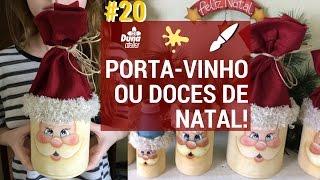 PORTA-VINHO OU DOCES COM ROSTO DE NOEL