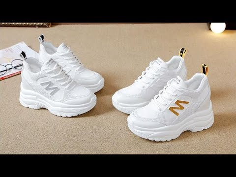 Giày thể thao nữ độn đế chữ M – Giày nữ giày sneaker nữ giày nữ sneaker