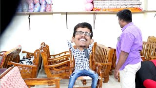Furniture shop prank | showroom prank | Tamil prank | orange mittai| prankster| vj praba|