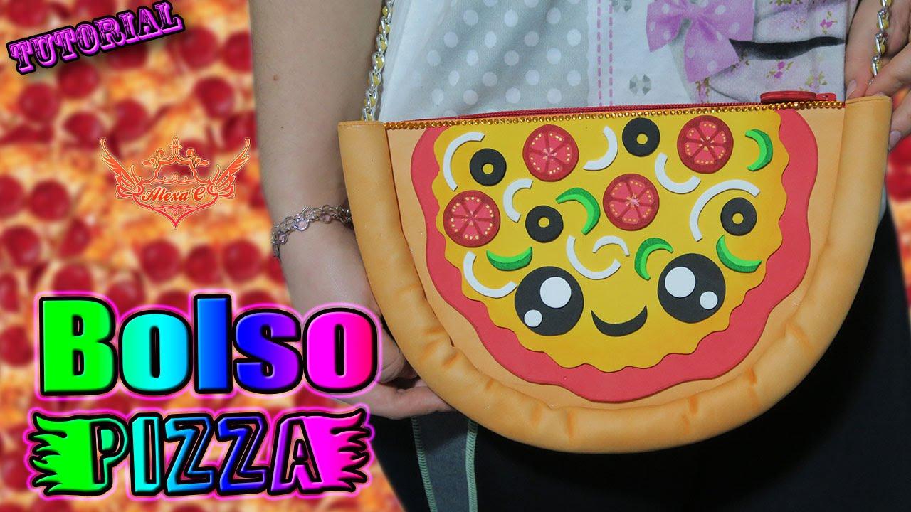 Tutorial: Bolso Pizza Kawaii De Goma Eva/Foami (FÁCIL Y
