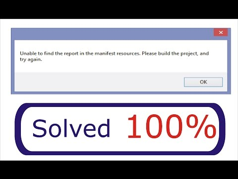 Unable to find the report in the manifest resources Solved in Easy Steps