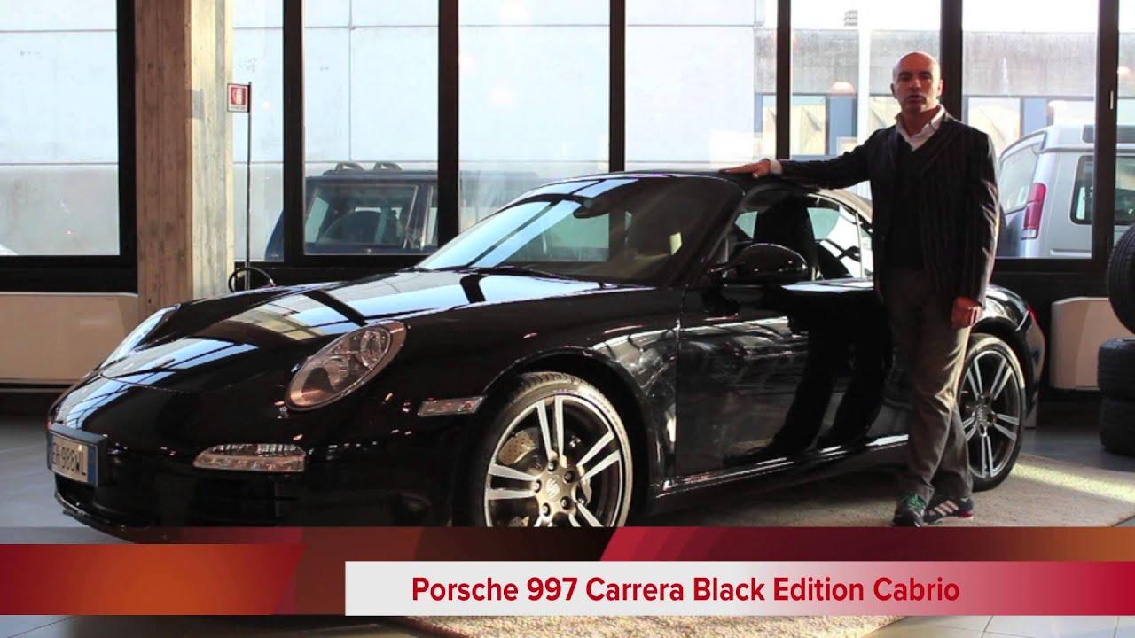 presentazione porsche 997 carrera black edition cabrio youtube. Black Bedroom Furniture Sets. Home Design Ideas