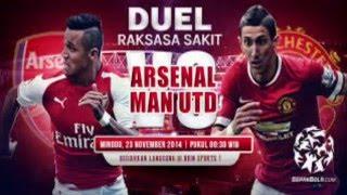 Manchester United vs Arsenal: Skor 3-2 (28-02-2016)
