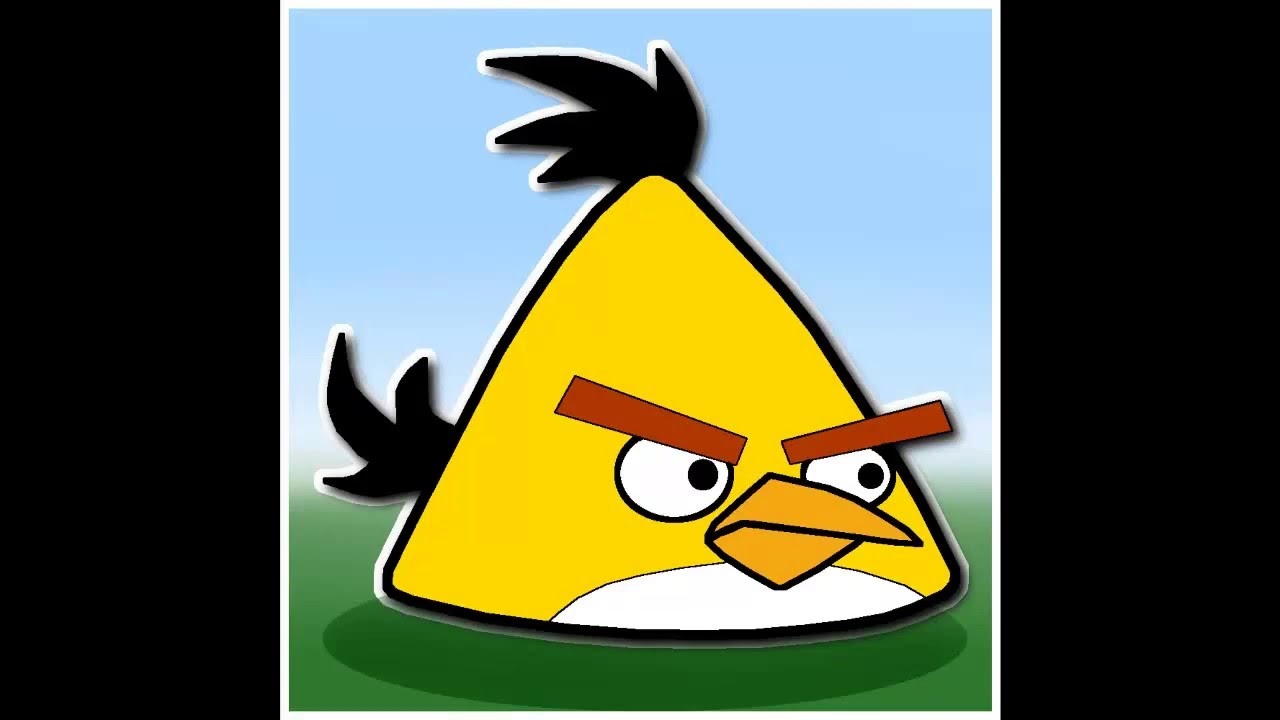 Draw Angry Bird Yellow Step By Step