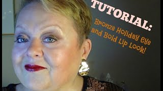 TUTORIAL: Bronze Copper Holiday Eye & Bold Lip! Thumbnail