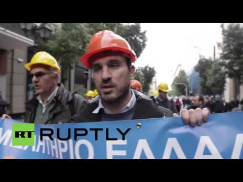 Greece: Rise of the professionals - architects, engineers and lawyers take to Athens' streets