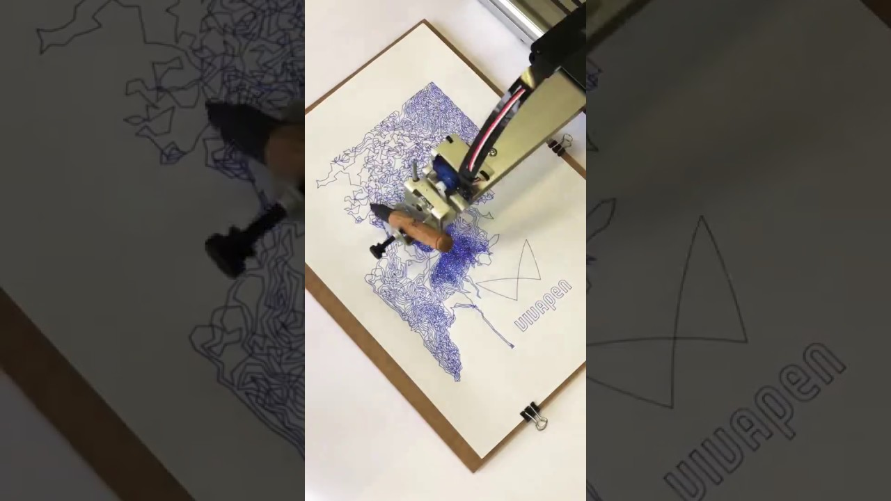 Fountain pen writing test with AxiDraw