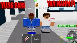 Yung bans and YBN Nahmir riding Roblox music video