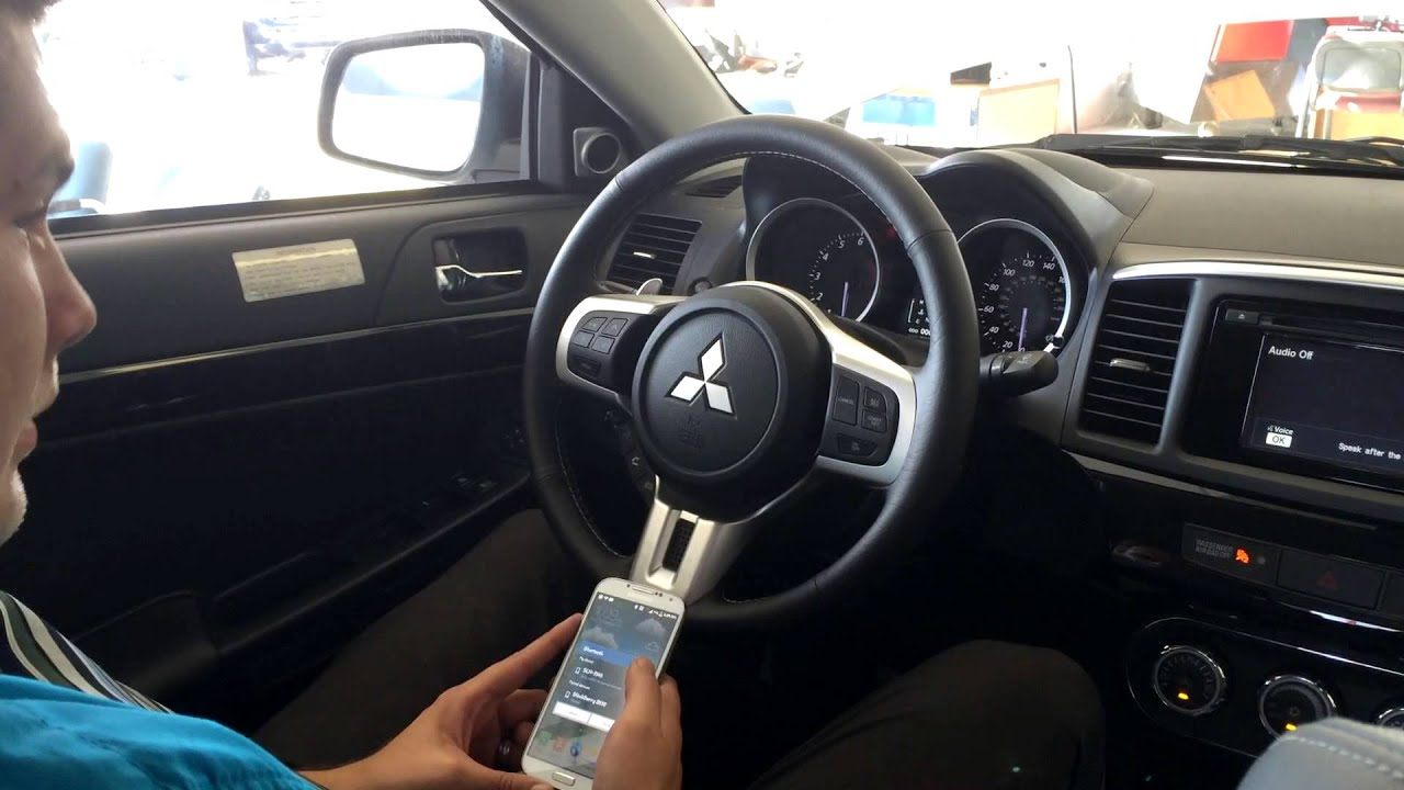 set up bluetooth in your mitsubishi hands free driving youtube