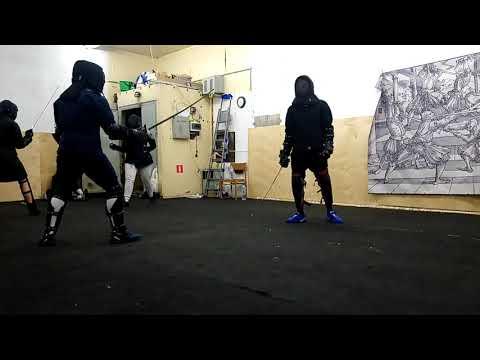 Александр Рябов, бой на тренировке