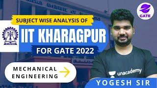 Subjecct Wise Analysis of IIT KHARAGPUR #GATE2022 | GATE-2022 |  by Yogesh Tyagi sir