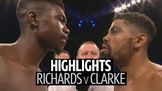 Lerrone Richards v Lennox Clarke fight highlights | 12 round back and forth war!