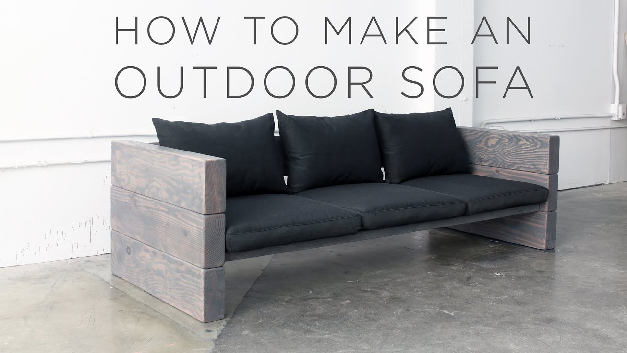 how to make an outdoor sofa youtube. Black Bedroom Furniture Sets. Home Design Ideas
