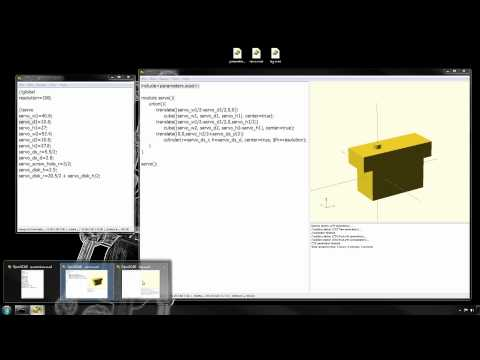 3D Solid CAD Models to Build openscad - Electronics Projects Circuits