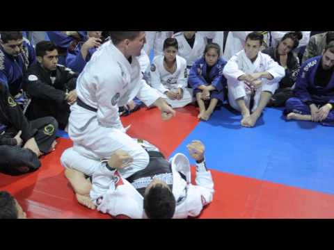 Rafa Mendes showing worm guard / lapel sweep to back take