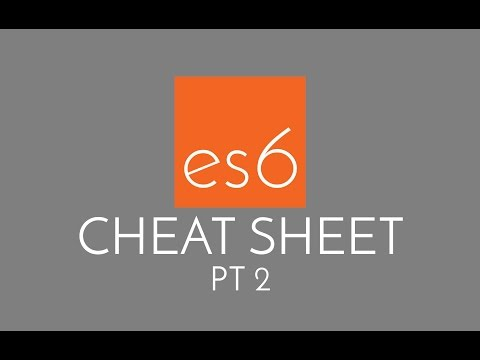 Javascript ES6 Cheatsheet #2 - the best of JS ES6