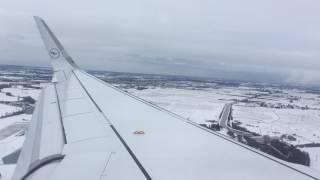 Landing at Munich Airport (MUC) - Lufthansa A320