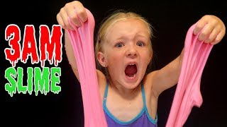 Do Not Make Fluffy Slime at 3AM *OMG* SO SCARY!!