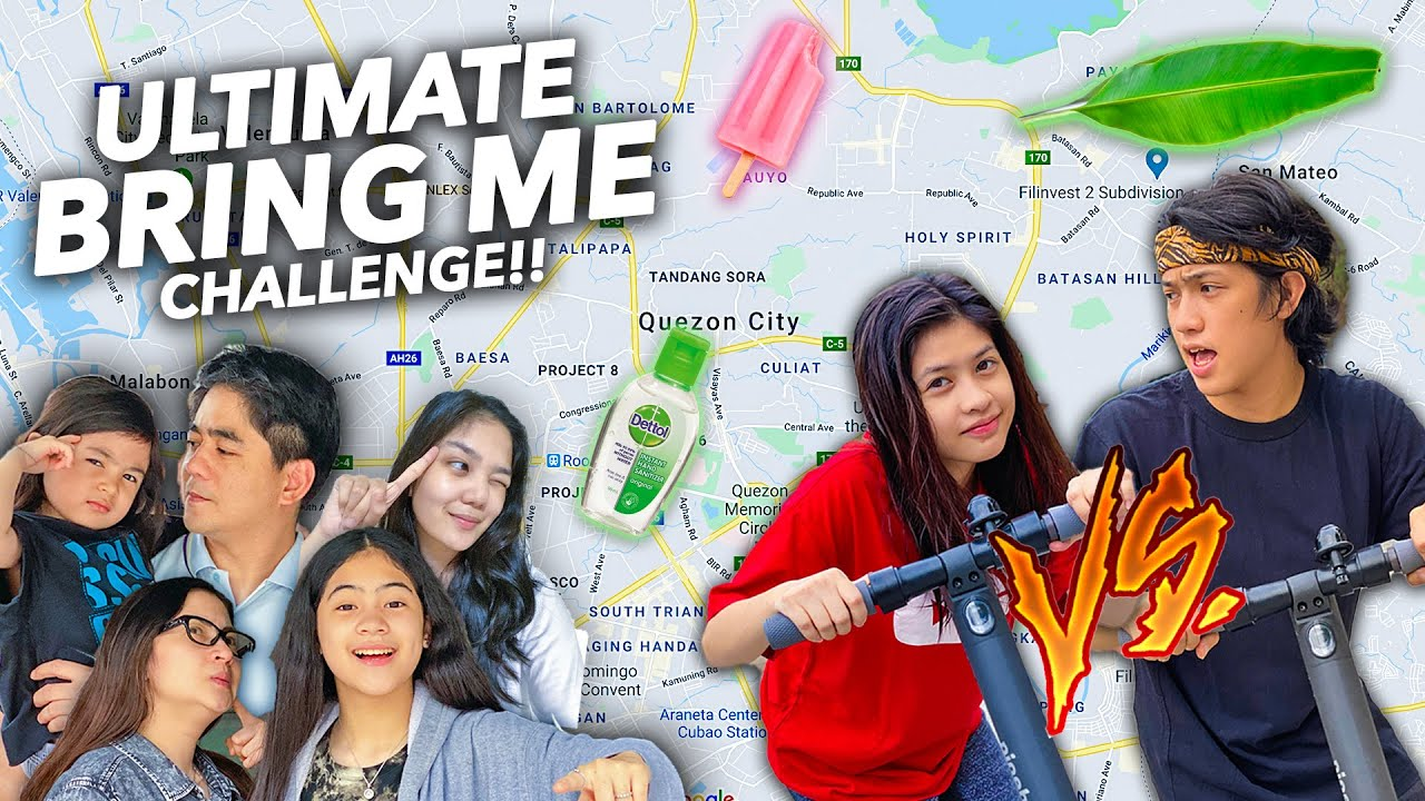 """ULTIMATE """"BRING ME"""" Game Around Our CITY !! (Seah VS Ranz)   Ranz and niana"""