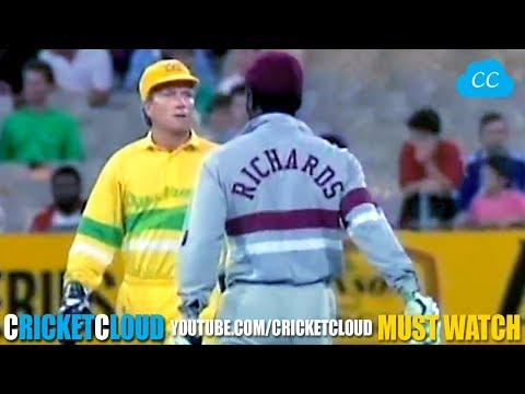 SIR VIV RICHARDS ON FIRE !! Most Aggressive inning !!