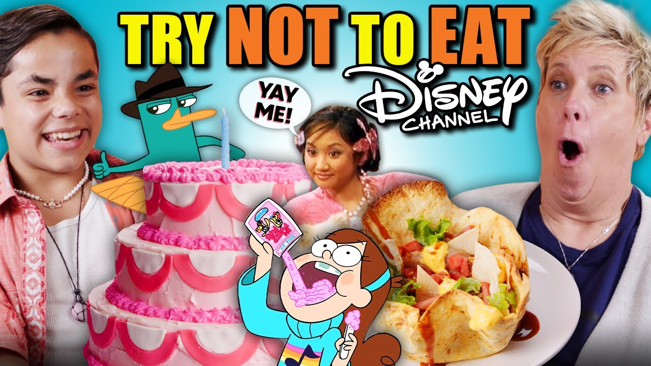 Download Try Not To Eat Challenge - Disney Channel Foods! (Kim Possible, Suite Life, Hannah Montana)