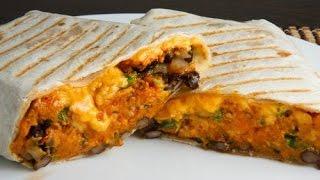 Sweet Potato And Beans Burrito