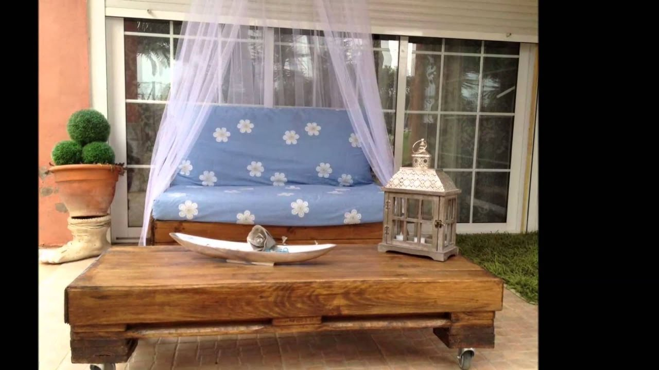 67 ideas para decorar con palets youtube for Adornos de madera para jardin