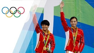 Three time consecutive gold medallist Minxia Wu as well as Tingmao ...