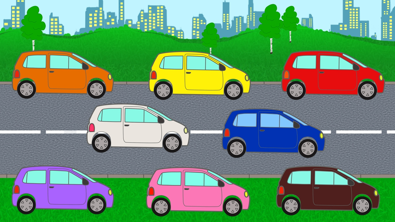 Aprenda As Cores Com Carros Coloridos Aprender As Cores Em Português